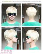 Short Blonde Wig Men