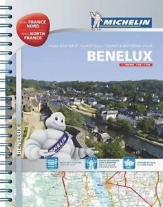 Benelux and North of France A4 Spiral Atlas,