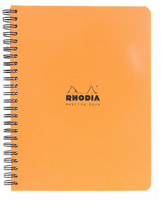 Rhodia Classic Meeting Book Orange Lined 6 X 8 - 193418