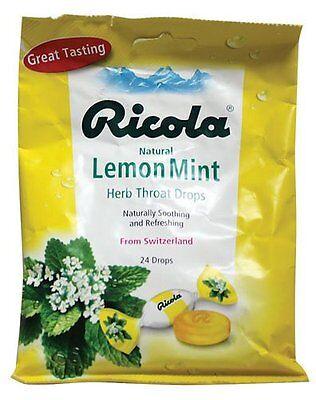 Ricola Cough Drops, Lemon Mint, 24 Ct (pack Of 12)