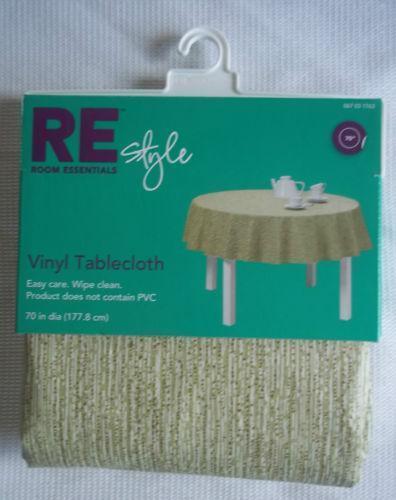 70 Round Vinyl Tablecloth Ebay