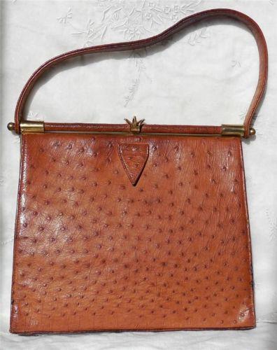 red faux ostrich purse