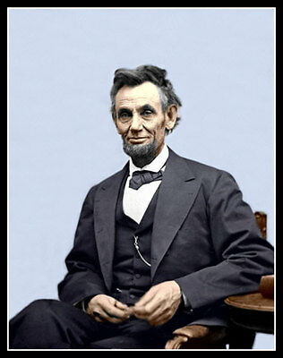 Abraham Lincoln Photo Large 11X14  President Honest Abe Civil War #3 COLORIZED