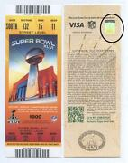 Super Bowl Ticket Stub
