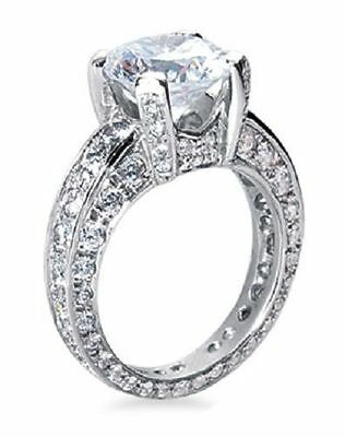 3.80 carat Round Diamond Engagement Ring 2 ct GIA certified F SI1 14K White Gold 1