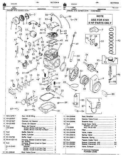 cub cadet super garden tractor parts