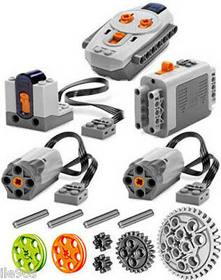 Lego Power Functions  Set 1   Technic Motor Receiver Remote Control Pulley Gear