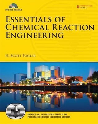 Essentials of Chemical Reaction Engineering 1st Global Edition