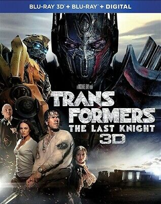 TRANSFORMERS THE LAST KNIGHT 3D New Sealed Blu-ray 3D + Blu-ray