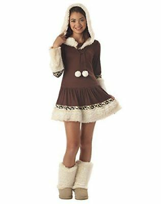 Polar Princess Eskimo Tween Girls Child Halloween Fancy Dress Costume SZ 12-14