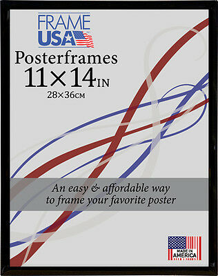11x14 Poster Frame w/Plexi-Glass and Corrugated Backing - Available in 4 Colors