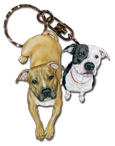 Pit Bull Friends Key Chain