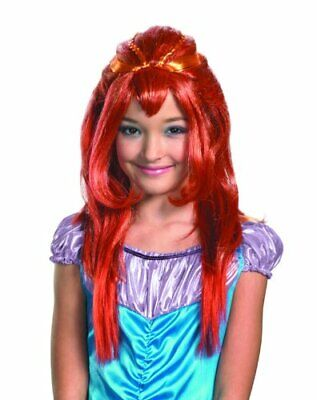 Winx Club Bloom Wig Girls Long Red Hair Fairy Princess Mermaid Costume One Size - Winx Costume Bloom