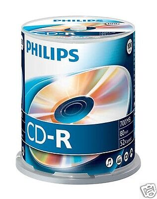 Philips CD-R 700, 52x Speed, Spindel 100