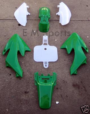 Chinese Dirt Pit Bike Fairing Body Shell Parts COOLSTER QG-210 QG-210-E 70cc GRN