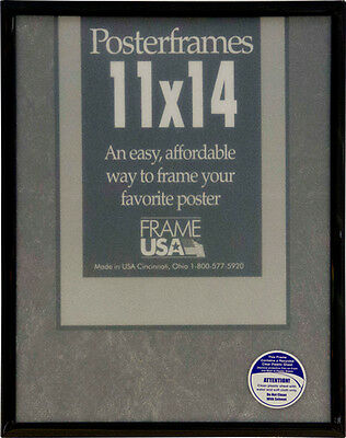 11x14 Poster Frame Pack of 6 Frames - Black, Gold, Silver, or Clear