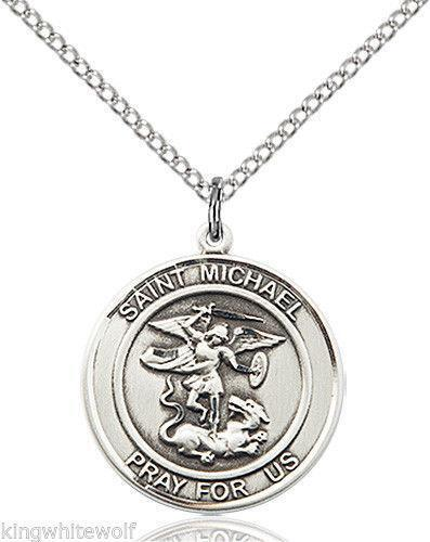 Archangel michael necklace ebay for Do pawn shops buy stainless steel jewelry
