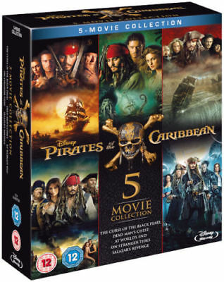 Pirates Of The Caribbean 5 Movie Collection 1 2 3 4 5 Blu Ray Set Region Free