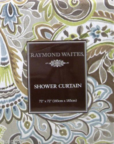 Gray Paisley Shower Curtain | eBay