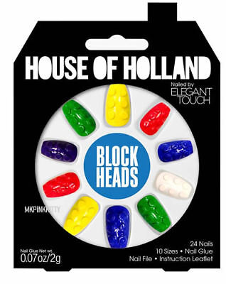 House Of Holland Nails By Elegant Touch - BLOCK HEAD  >> NEW