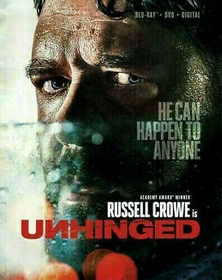 UNHINGED (DVD,2020) NEW* Russell Crowe * Action, Thriller * FREE SHIPPING!!!