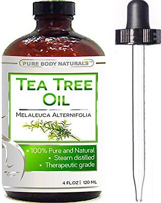 Tea Tree Essential Oil, Natural Treatment for Acne, Hair and