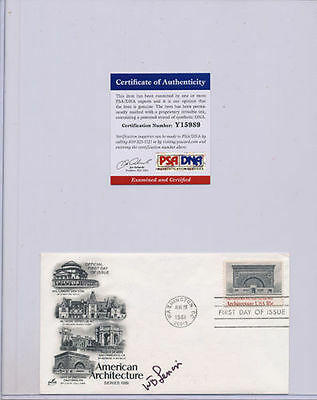 PSA/DNA SIGNED FIRST DAY COVER WILLIAM LENOIR   989