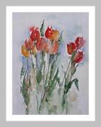 Aquarell Tulpen