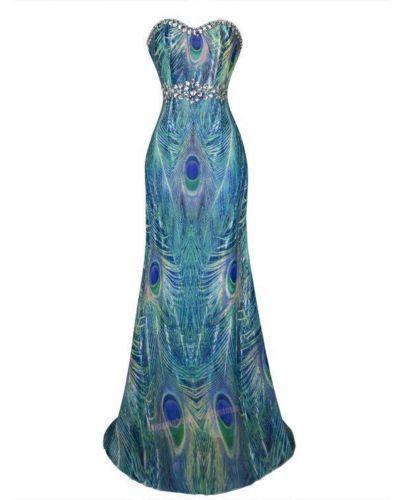 Peacock Feather Dress | eBay