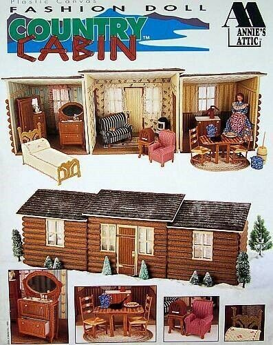 Plastic Canvas Fashion Doll Country Cabin Patterns  Annie