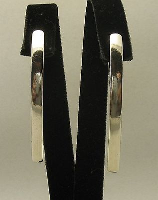 LONG STERLING SILVER EARRINGS SOLID 925 FRENCH CLIP E000383 EMPRESS