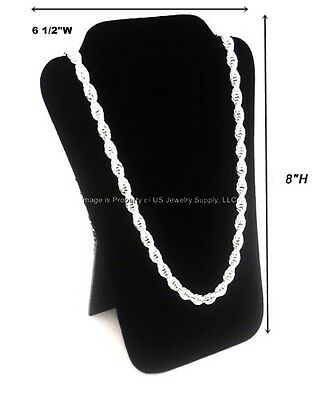 6 Black Velvet Necklace Pendant Easel Back Jewelry Displays 6 12w X 8h