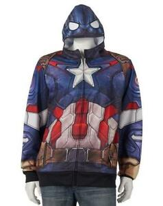 New Mens Adult Avengers CAPTAIN AMERICA Sweatshirt Hoodie