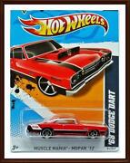 2012 Hot Wheels 68 Dodge Dart