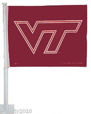 VIRGINIA TECH CAR FLAG Hokies Birthday Party Supplies College Sports Decorations