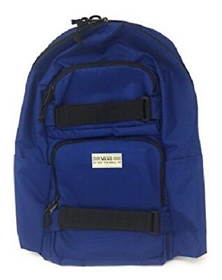 Vans SKATES PACK Backpack (NEW) Skate Board Straps BLUE School Bag FREE SHIPPING