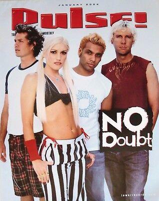 NO DOUBT PULSE MAGAZINE 2002 U.S. PROMO POSTER - Gwen Stefani, Ska Pop Music - $11.99