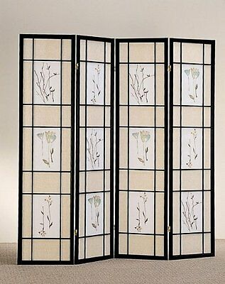 4 & 3 Panel Wood Room Divider ...