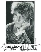 Rod Stewart Signed