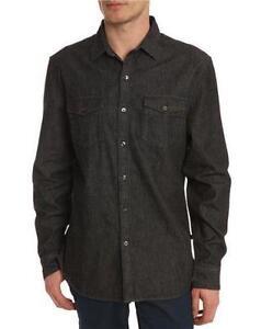 Levis denim shirt ebay for Mens black levi shirt