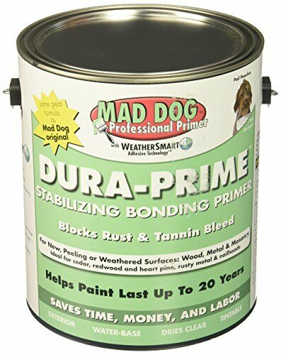 MAD DOG MDP100 Exterior Primer Stops Peeling Rust & Tannin, 1 gallon, Clear