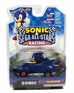 Sonic the Hedgehog & Sega All-Stars Racing Pull Back Car Vehicle - Brand New