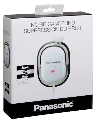 Panasonic Noise-Canceling Headphones White RP-HC200-W