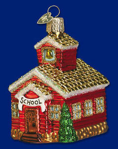 Old World Christmas School House Glass Ornament, New In Box Kitchener / Waterloo Kitchener Area image 1