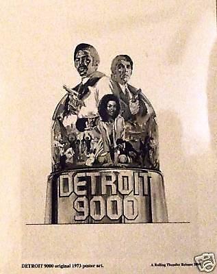DETROIT 9000 Hari Rhodes, Alex Rocco - original 1973 poster art