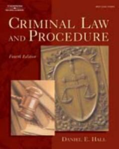 Criminal Law and Procedure by Daniel E  Hall (2003, Hardcover, Revised)