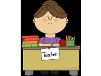 Qualified and experienced teacher available for personal tuition and school holiday childcare