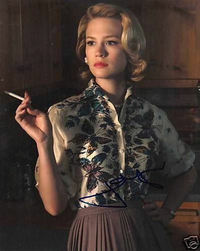 JANUARY JONES.. Mad Men's Smoking Siren - SIGNED