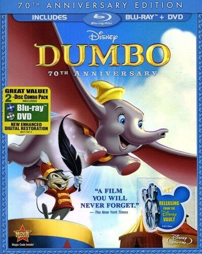 Dumbo [new Blu-ray] With Dvd, Full Frame, Anniversary Ed, Dolby, Digit