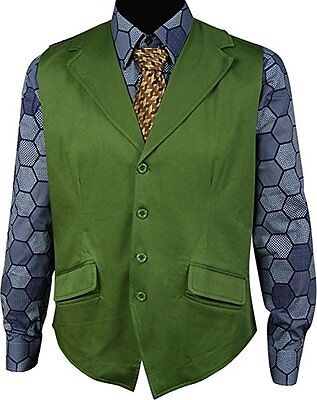 JOKER Vest + Hexagon Shirt + Tie Batman: The Dark Knight Rises Cosplay Costume